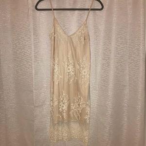 Charlotte Russe Beige Dress w/Lace